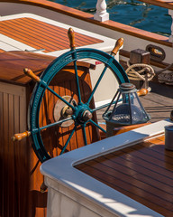 Rigging on the sailboat in Friday Harbor in San Juan Island