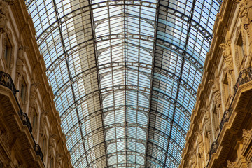 Foto op Plexiglas Milan Beautiful fashion store Gallery Vittorio Emanuele in Milan