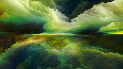Fotobehang Pistache Beyond Abstract Landscape