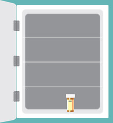 Almost Empty Medicine Cabinet