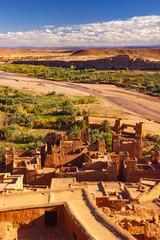 Beautiful ancient old city Ait Benhaddou near Ouarzazate, Atlas, Morocco