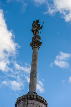 Sculpture of the archangel Rafael de Córdoba, Spain