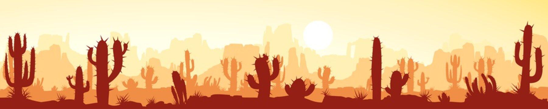 wide image of desert landscape