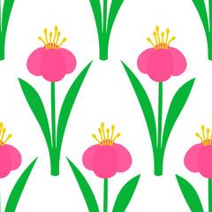 Flower seamless pattern. Floral background. Vector illustration.