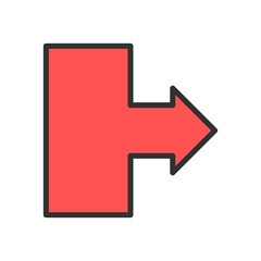 Vector Rightward Arrow  Icon