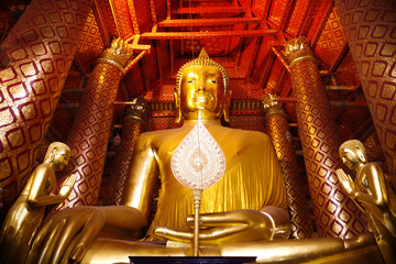 old archaeological site of religion buddha asia thailand.
