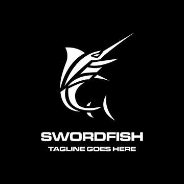 simple flat swordfish logo icon vector template