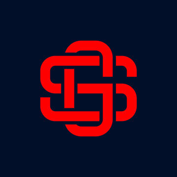 letter SG initial logo icon vector template