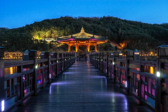 woryeonggyo bridge at night in andong