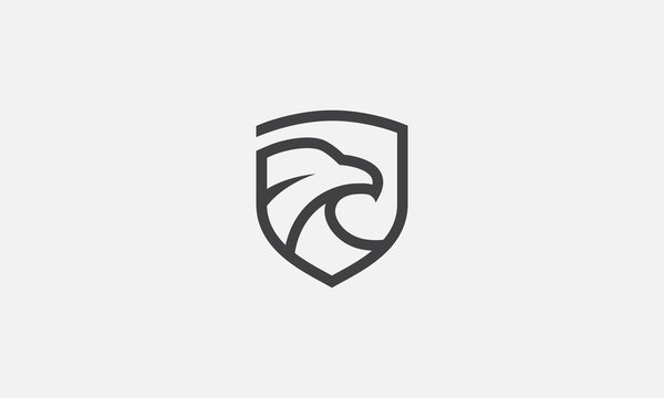eagle shield logo, eagle icon, eagle head, vector