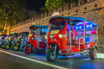 Tuk Tuk Thailand. Thai traditional taxi in Thailand.