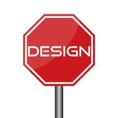 DESIGN letters icon, Road sign icon