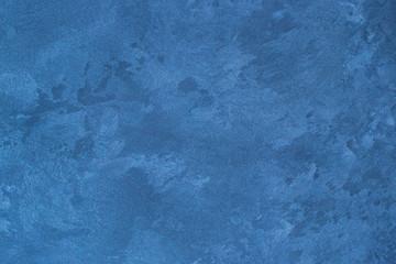 Texture of blue decorative plaster.