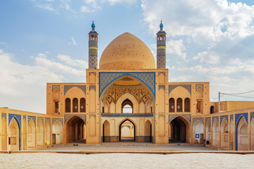View of Agha Bozorg Mosque in Kashan, Iran