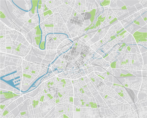 Vector city map of Manchester with well organized separated layers.