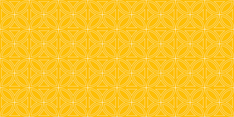 Background pattern seamless circle Chinese style abstract yellow color geometric vector. Summer Background design.