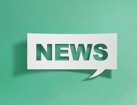 Speech bubble with news message