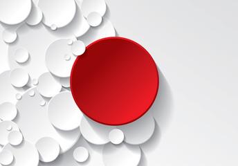 Obraz fond cercle rouge et blanc - fototapety do salonu