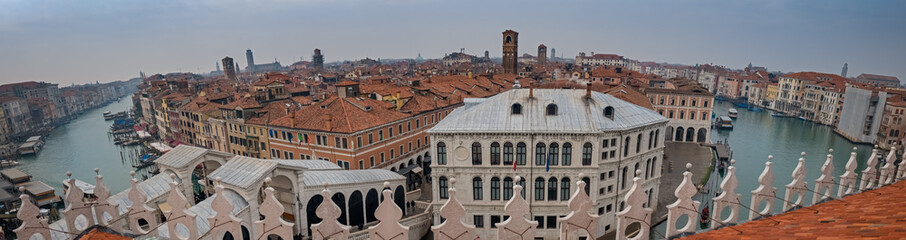 Canal Grande panorama, Venice, capital of the Veneto region, a UNESCO World Heritage Site, northeastern Italy Wall mural