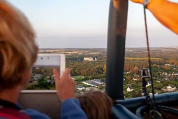 Vol en montgolfière - vue aérienne