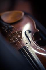 Vintage violin detail
