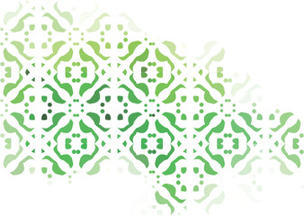 vector abstract background green ornament on a white background