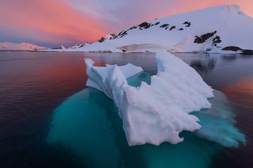 Harbour with iceberg in antarctica