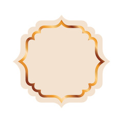 elegant frame golden isolated icon