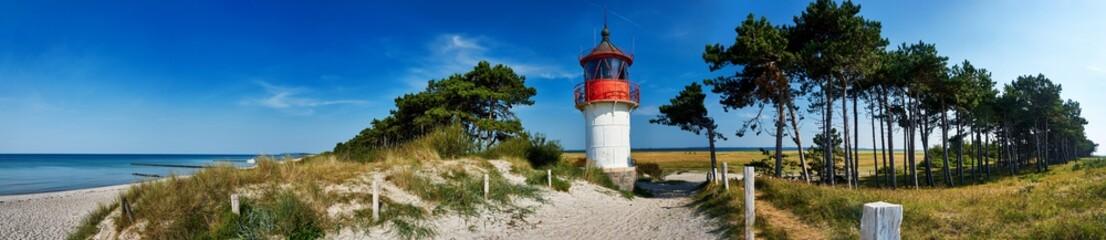 lighthouse Gellen on Isle Hiddensee
