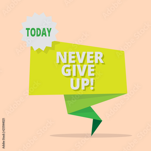 No give up on you meaning