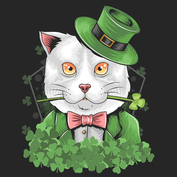 ST PATRICK S DAY CUTE CAT