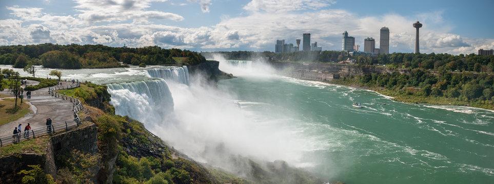 Very large Niagara Falls panoramic view