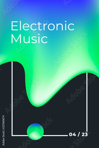 Electronic music poster  Music festival  Techno, drum and bass, dub