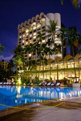 Singapore hotel at night