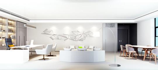 3d render modern working space