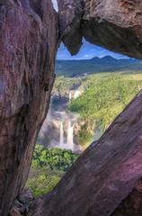 Photo sur Toile Rivière de la forêt Mirante da Janela in the veneer of the veadeiros