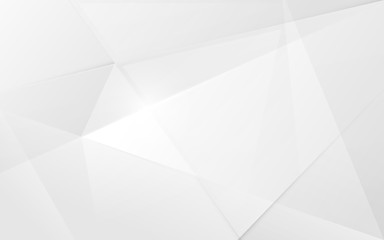 Abstract white 3d polygonal pattern background