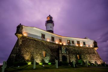 Lighthouse or Farol da Barra is a landmark in the Lower City, Salvador, Bahia, Brazil