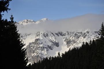 alpine mountains in winte, styria, austria