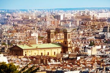 Paris panorama and focus on Saint-Vincent de Paul
