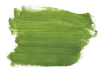 Brush green abstract aquarel watercolor background isolated