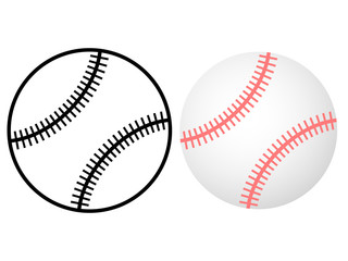 Baseball balls isolated on a white background