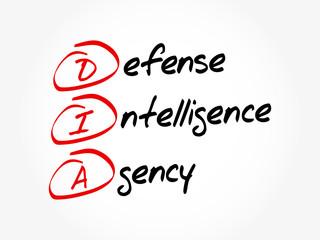 DIA - Defense Intelligence Agency acronym, concept background