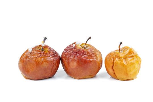 Three baked apples