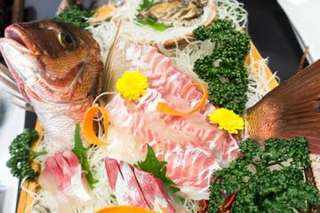 【日本】和食 刺身 鯛のお造り