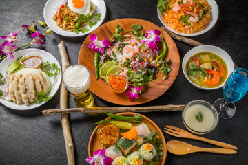 代表的なタイ料理 typical Southeast Asian cuisine