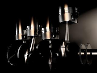 racing engine and mechanical parts like motor pistons
