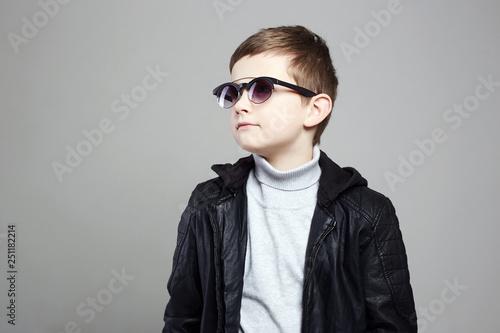 c6ed679bde1b little boy in sunglasses. stylish kid in leather