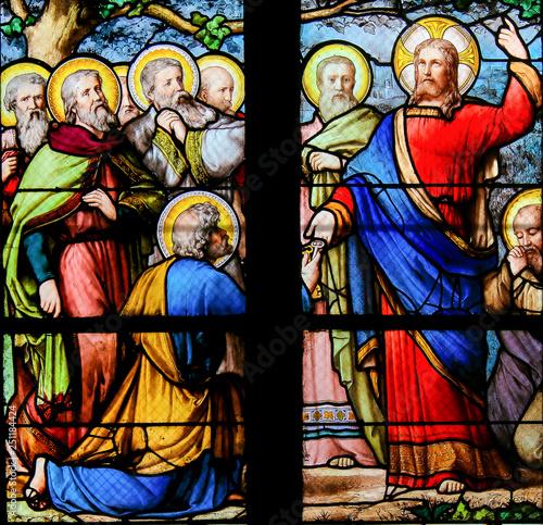 Jesus handing over the Keys to the Kingdom of Heaven to Saint Peter