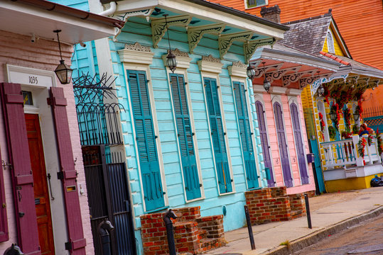 Shotgun house in the French quarter of New Orleans